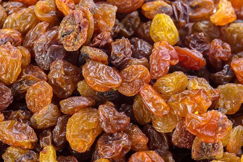 Demir İçeren Gıdalar Kuru Üzüm